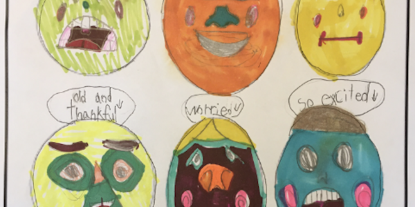 A child's drawing of emotions